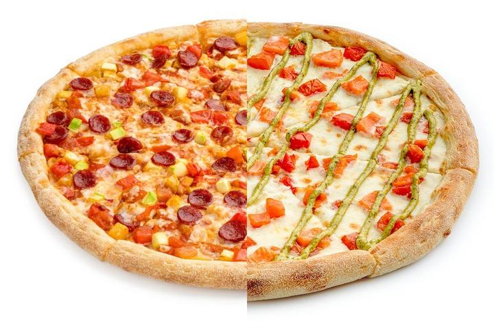 1/2 Пицца Лечо + 1/2 Рыбная