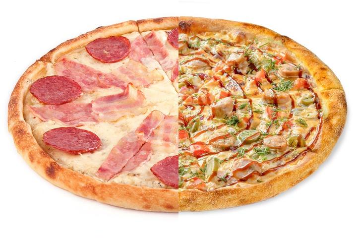1/2 Мясная + 1/2 Пицца с купатами