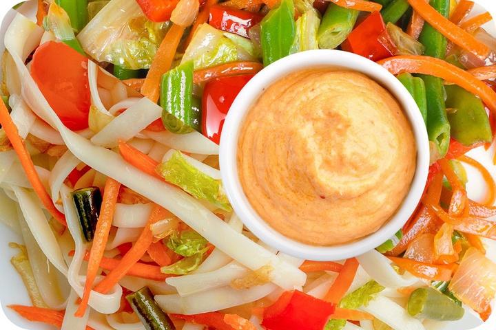 Лапша удон (овощи) + Овощи + Сливочный Том ям