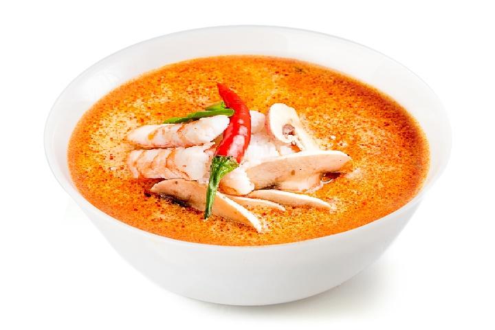 Том-ям суп с креветками