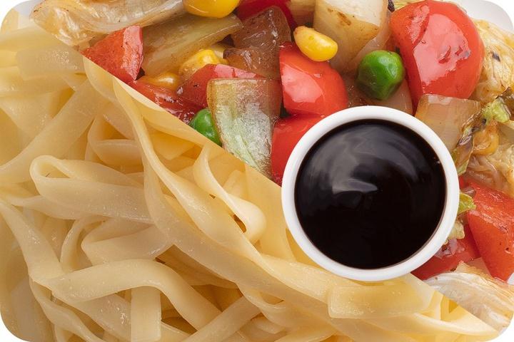 Лапша удон (овощи) + Овощи + Соус Терияки