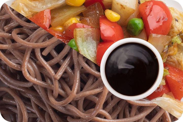 Лапша соба (овощи) + Овощи + Соус Терияки