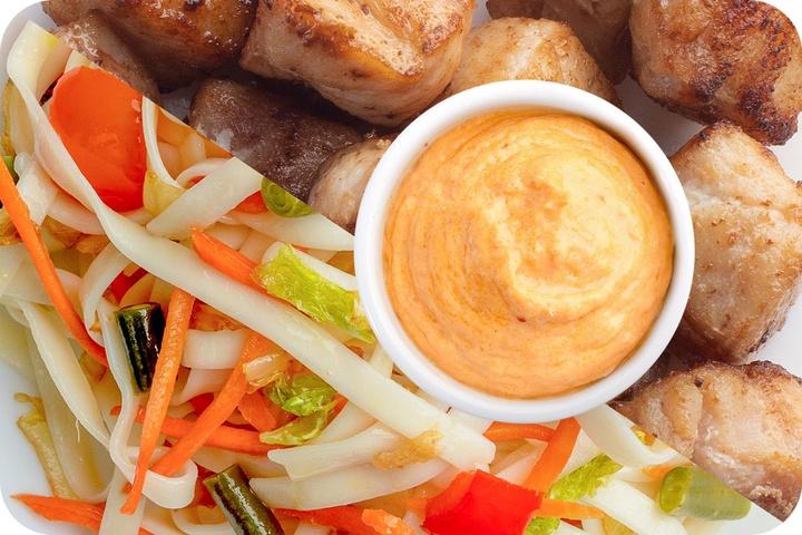 Лапша удон (овощи) + Курица + Сливочный Том ям