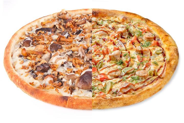 1/2 Грибоедов + 1/2 Пицца с купатами
