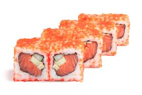 Калифорния с лососем-: 1/2 порции