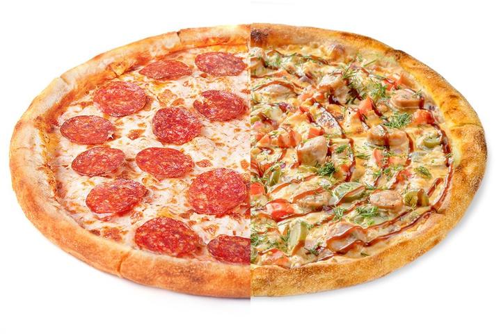 1/2 Пепперони + 1/2 Пицца с купатами