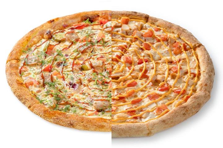 1/2 Пицца с купатами + 1/2 Чикен Чиз