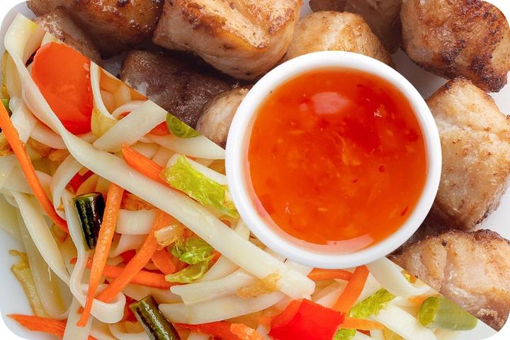 Лапша удон (овощи) + Курица + Свит Чили