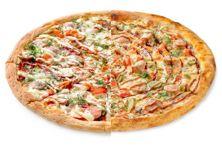 1/2 Домашняя + 1/2 Пицца с купатами