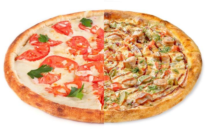 1/2 Маргарита + 1/2 Пицца с купатами